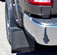 Set back mud flap on 2018 Ram