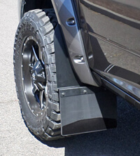 Set Back mud flaps on Dodge